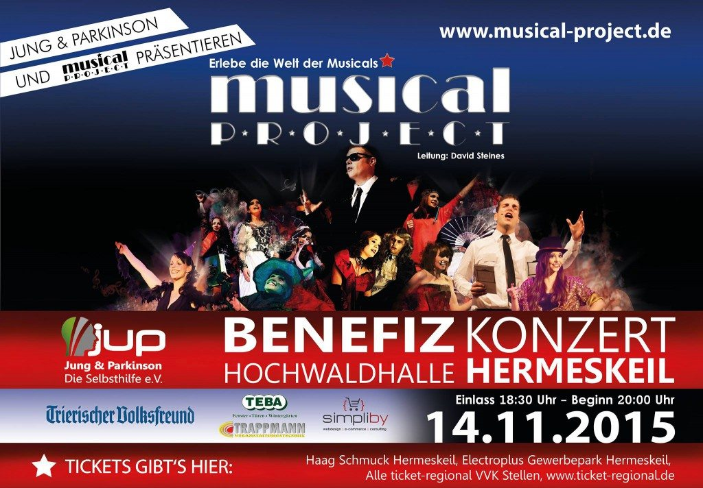 Musical Project veranstaltet Benefizkonzert für Jung und Parkinson in Hermeskeil im November 2015